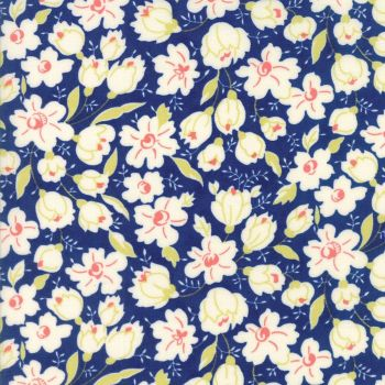 Moda Fabrics ~ Coney Island ~ Buttercups Midnight Blue