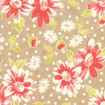 Moda Fabrics ~ Coney Island ~ Daisy Blooms Boardwalk