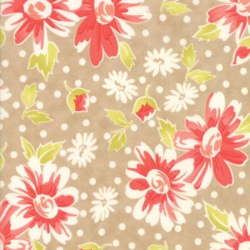 Moda Fabrics ~ Coney Island ~ Daisy Blooms Boardwalk