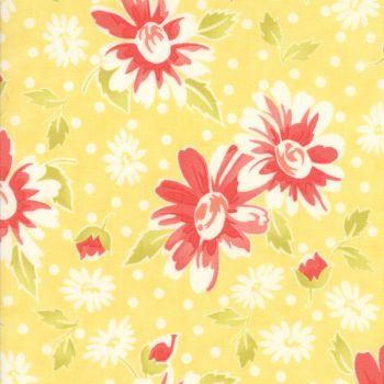 Moda Fabrics ~ Coney Island ~ Daisy Blooms Buttercup Yellow