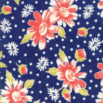 Moda Fabrics ~ Coney Island ~ Daisy Blooms Midnight Blue