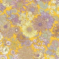 Lecien ~ Memoire A Paris ~ Large Floral Yellow