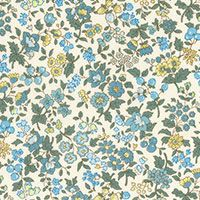Lecien ~ Memoire A Paris ~ Small Floral Teal