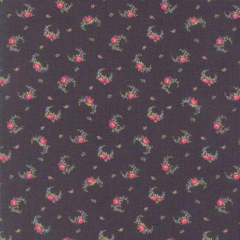Moda Fabric ~ Guernsey ~ Elizabeth Rose Swag Charcoal