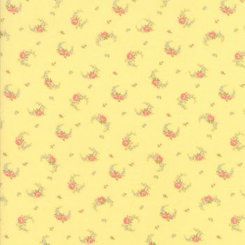 Moda Fabric ~ Guernsey ~ Elizabeth Rose Swag Soft Yellow