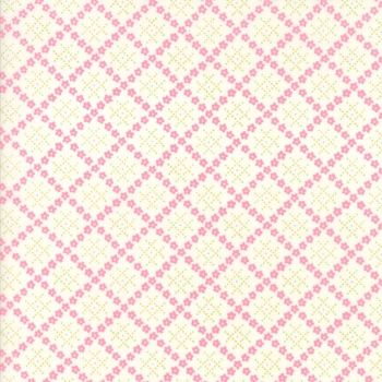 Moda Fabric ~ Guernsey ~ Kit Flower Plaid Linen
