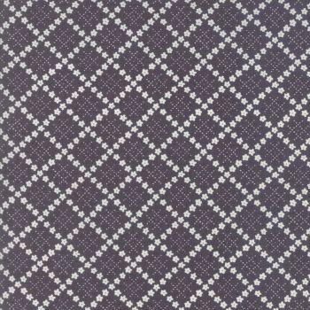 Moda Fabric ~ Guernsey ~ Kit Flower Plaid Charcoal