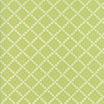 Moda Fabric ~ Guernsey ~ Kit Flower Plaid Leaf