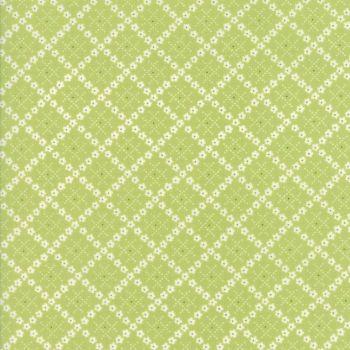 Moda Fabric ~ Guernsey ~ Kit Flower Plaid Leaf