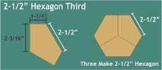 Patchwork Paper Pieces ~ Hexagon Thirds 2 1/2