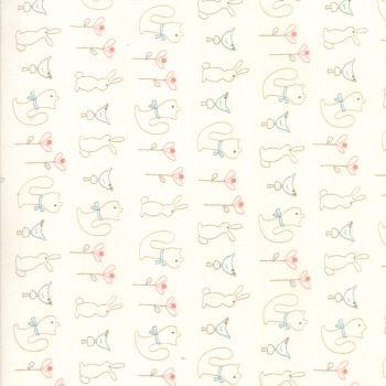 Moda Fabric ~ Corner of 5th and Fun ~ Fun Friends Ivory