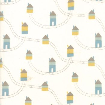 Moda Fabric ~ Corner of 5th and Fun ~ Highways Ivory