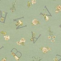 Lecien Fabric ~ Kate Greenaway ~ Alphabet Green