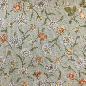 Lecien Fabric ~ Kate Greenaway ~ Floral Green