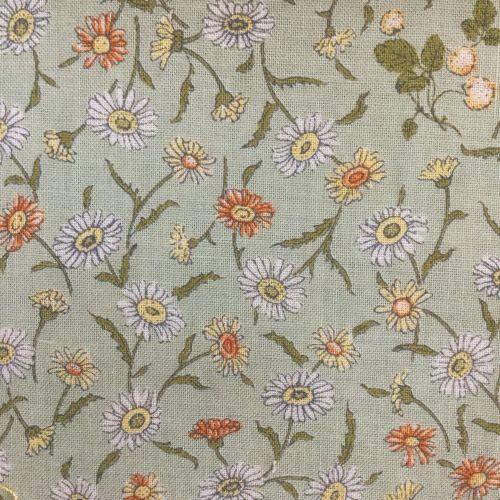 Lecien Fabric ~ Kate Greenaway ~ Floral Green