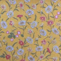 Lecien Fabric ~ Kate Greenaway ~ Floral Yellow