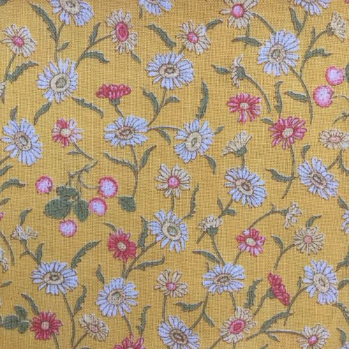 Lecien Fabric ~ Kate Greenaway ~ Floral Yellow