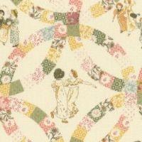 Lecien Fabric ~ Kate Greenaway ~ Patchwork Cream