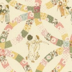 Lecien Fabric ~ Kate Greenaway ~ Patchwork Cream