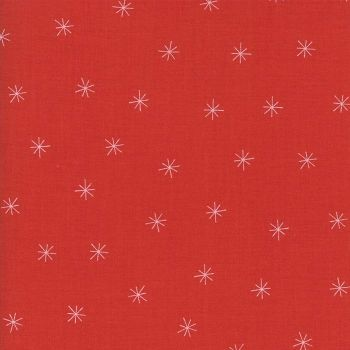 Moda Fabric ~ Merrily ~ Snowy Stars in Berry