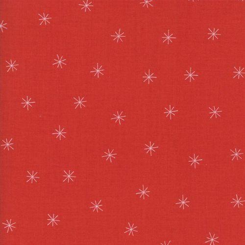 Moda Fabric ~ Merrily ~ Snowy Stars in Berry