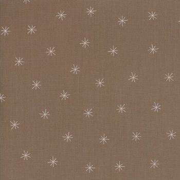 Moda Fabric ~ Merrily ~ Snowy Stars in Cocoa
