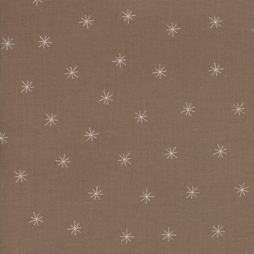 Moda Fabric ~ Merrily ~ Snowy Stars in Cocoa