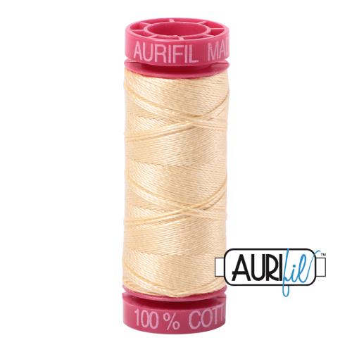 Aurifil ~ 12 wt Cotton ~ 2105 ~ Creamy Yellow