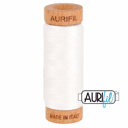 Aurifil ~ 80 wt Cotton ~ 2021 ~ Off White