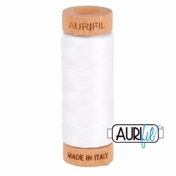 Aurifil ~ 80 wt Cotton ~ 2024 ~ White