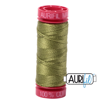 Aurifil ~ 12 wt Cotton ~ 5016 ~ Olive Green