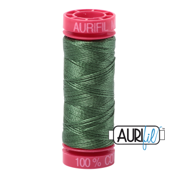 Aurifil ~ 12 wt Cotton ~ 2890 ~ Very Dark Grass Green
