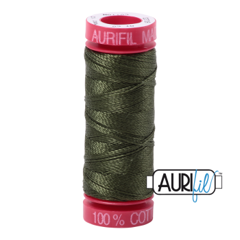 Aurifil ~ 12 wt Cotton ~ 5023 ~ Medium Green