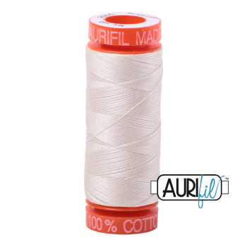 Aurifil ~ 50 wt Cotton ~ 2000 ~ Light Sand Small Spool