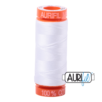 Aurifil ~ 50 wt Cotton ~ 2024 ~ White Small Spool