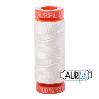Aurifil ~ 50 wt Cotton ~ 2026 ~ Chalk Small Spool