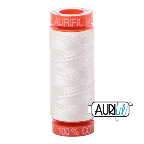 Aurifil ~ 50 wt Cotton ~ 2026 ~ Chalk Small Spool