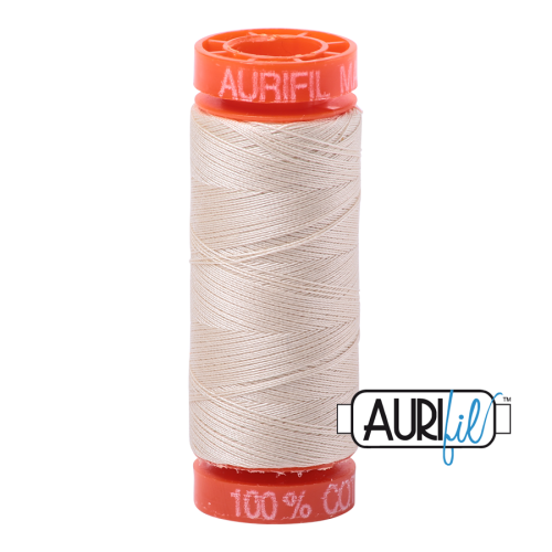 Aurifil ~ 50 wt Cotton ~ 2310 ~ Light Beige Small Spool