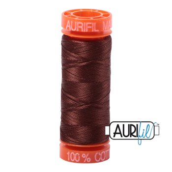 Aurifil ~ 50 wt Cotton ~ 2360 ~ Chocolate Brown Small Spool