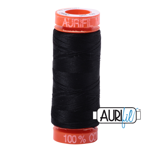 Aurifil ~ 50 wt Cotton ~ 2692 ~ Black Small Spool