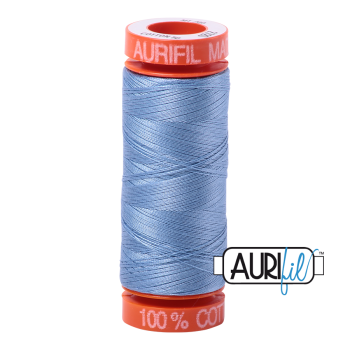 Aurifil ~ 50 wt Cotton ~ 2720 ~ Light Delft Blue Small Spool