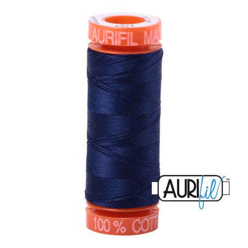 Aurifil ~ 50 wt Cotton ~ 2784 ~ Dark Navy Blue Small Spool