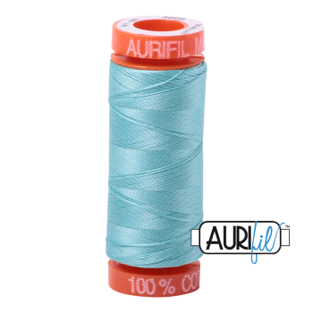 Aurifil ~ 50 wt Cotton ~ 5006 ~ Light Turquoise Small Spool