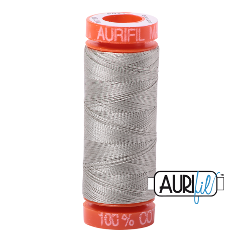 Aurifil ~ 50 wt Cotton ~ 5021 ~ Light Grey/Khaki Small Spool