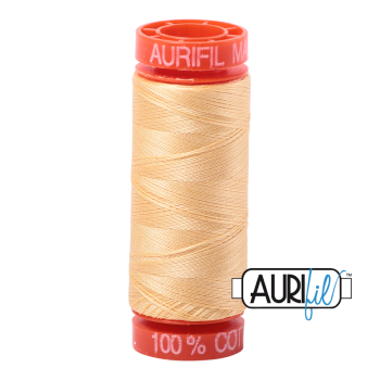 Aurifil ~ 50 wt Cotton ~ 2130 ~ Medium Butter Small Spool