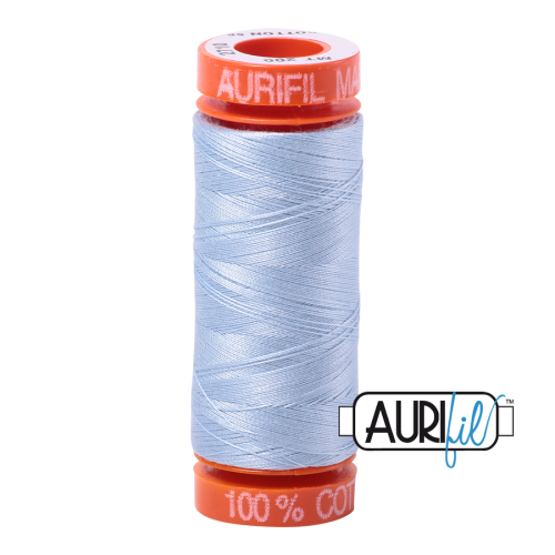 Aurifil ~ 50 wt Cotton ~ 2710 ~ Light Robins Egg Small Spool