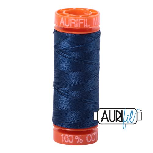 Aurifil ~ 50 wt Cotton ~ 2783 ~ Medium Delft Blue Small Spool