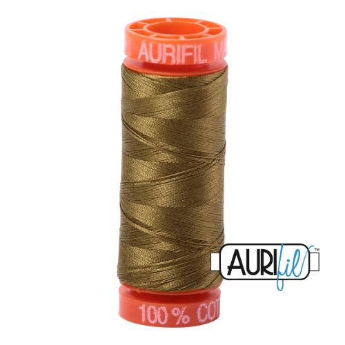 Aurifil ~ 50 wt Cotton ~ 2910 ~ Medium Olive Small Spool