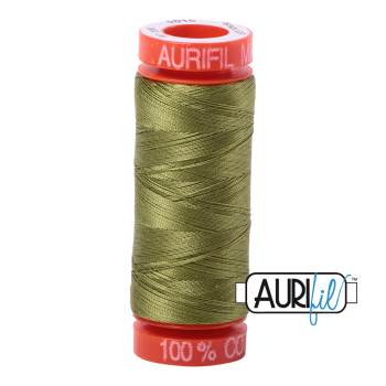 Aurifil ~ 50 wt Cotton ~ 5016 ~ Olive Green Small Spool