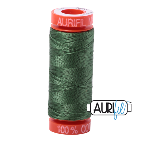 Aurifil ~ 50 wt Cotton ~ 2890 ~ Very Dark Grass Green Small Spool